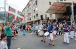 Momento de las fiestas de Amaña de Eibar
