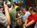 Momento de la Feria Extraordinaria y Concurso de Queso Idiazabal de Ordizia