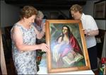 Exhibición del cuadro de Santa María Magdalena