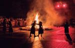 Momento de la Hoguera de San Juan de Olaberria (Foto: J. A. Barrasa)