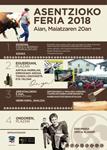 Cartel de la Feria de la Ascensión de Aia 2018
