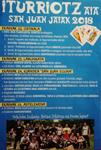 Cartel del Programa Fiestas de San Juan de Iturriotz en Aia 2018