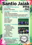 Cartel de Fiestas de Santio-Erreka de Aia 2019