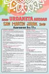 Cartel del Programa Fiestas de San Martín de Urdaneta de Aia 2019