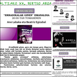 Cartel del Altzako Bertso Aroa 2020