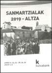 Cartel de las fiestas de San Marcial de Altza de Donostia 2019