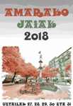 Cartel de las Fiestas de Amara Zaharra 2018