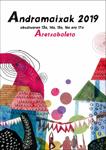 Cartel de las Fiestas de Andramaixak de Aretxabaleta 2019