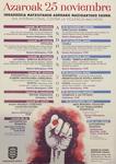 Cartel del Día Internacional Contra la Violencia Machista en Andoain 2020