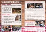 Cartel de las fiestas de San Andrés de Azkoitia 2019