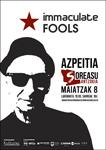 Cartel del concierto de Immaculate Fools en Azpeitia 2021