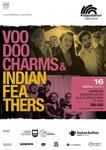 Cartel del concierto Voodoo Charms + Indian Feathers de Azpeitia 2020