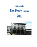 Beizamako San Pedro Jaien kartela 2019