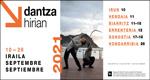 Cartel del festival Dantza Hirian 2021
