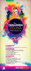 """Cartel del Programa del """"Debarren Eguna"""" de Deba 2019"""