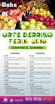 """Cartel de Soro Feria - """"Urte Berri"""" Feria de Deba 2018"""