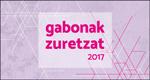 """Cartel del programa """"Gabonak Zuretzat"""" de Donostia 2017"""