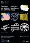 Cartel de la Semana De Música De Cámara de Donostia 2021