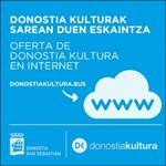 Donostia Kulturak Sarean Duen eskaintzaren foiletoa
