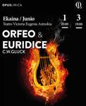 """Cartel de la ópera """"Orfeo y Eurídice"""" de Donostia 2018"""