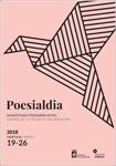 """Cartel de """"Poesialdia"""", Semana de la Poesía de Donostia / San Sebastián 2018"""
