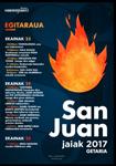 Cartel de las Fiestas de San Juan de Getaria 2017