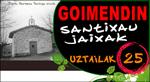 """Cartel del Programa Fiestas de """"Santixau"""" de Goimendi"""