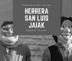 Cartel de las Fiestas de San Luis de Herrera en Donostia 2017