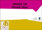 """Cartel del ciclo de conferencias """"Ordizia 750 (1268-2018)"""""""