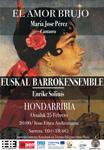 """Cartel del concierto """"El Amor Brujo"""" de Hondarribia"""