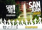 Cartel del Programa Fiestas de San Juan en Intxaurrondo Norte de Donostia 2017