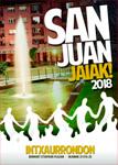 Cartel del Programa Fiestas de San Juan en Intxaurrondo Norte de Donostia 2018