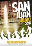 Cartel del Programa Fiestas de San Juan en Intxaurrondo Norte de Donostia 2019