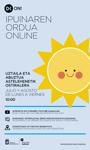 Cartel del Ipuinaren Ordua Online de Donostia 2020