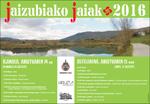 Cartel de las Fiestas de Jaitzubia en Hondarribia 2016