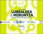 """Cartel de las jornadas """"Lurraldea eta Hizkuntza"""" 2021"""