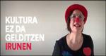 Kultura Ez Da Gelditzen Irunen ekitaldiaren foiletoa 2020