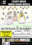 Cartel de la cabalgata de los Reyes Magos en Lasarte-Oria