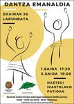 Cartel de la Sesión de danzas de Korosti Dantza Taldea de Legazpi 2021