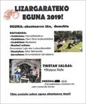 Oñatiko Lizargarateko Egunaren kartela 2019