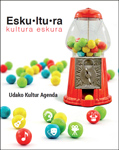 Cartel del programa Esku•ltu•ra de Oñati 2020