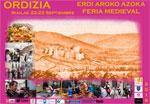 Cartel del Mercado Medieval de Ordizia 2018