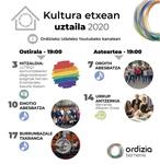 Kultura Etxean 2020 - Kartela
