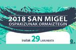 Cartel del Programa Fiestas de San Miguel de Ormaiztegi 2018