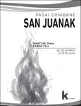 Cartel de las Fiestas de San Juan de Pasaia Donibane 2019