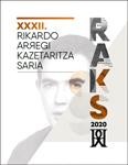 Cartel del Premio de Periodismo Rikardo Arregi 2020