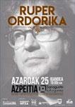 Cartel del concierto de Ruper Ordorika en Azpeitia 2018