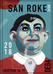 Cartel de las fiestas de San Roque de Deba 2018