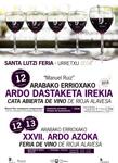 Cartel de la Cata Abierta y Feria De Vino De Rioja Alavesa de Urretxu 2018