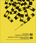 Cartel del Certamen Coral de Tolosa 2017